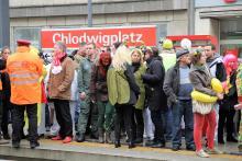 Kölner auf dem Weg zu diversen Veranstaltungen