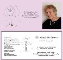 Elisabeth Hofmann, Köln, Viernheim, verstorben